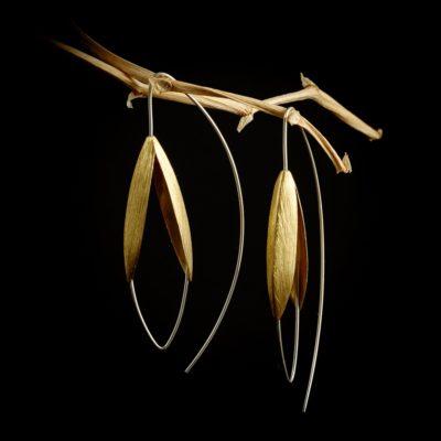 Blüten Ohrringe Sterlingsilber vergoldet