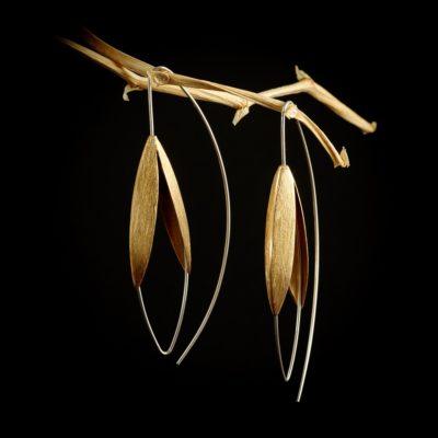 Blüten Ohrringe Sterlingsilber rose vergoldet