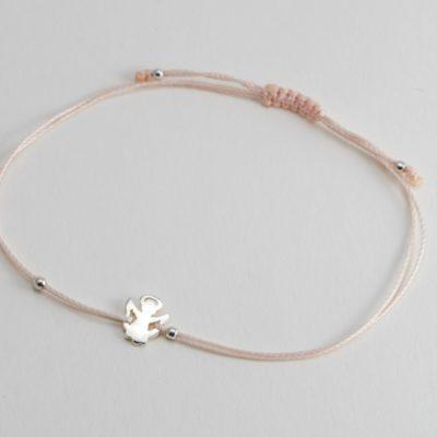 Schutzengel Sterlingsilber Armband viele Farben zur Auswahl