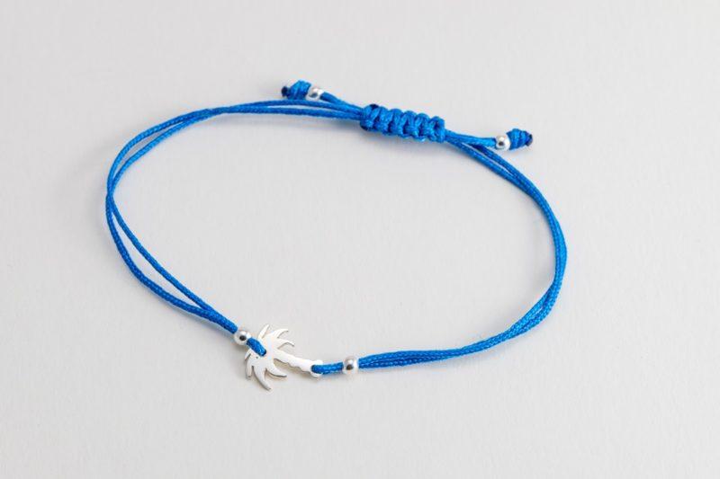 Palme Sterlingsilber Armband viele Farben zur Auswahl