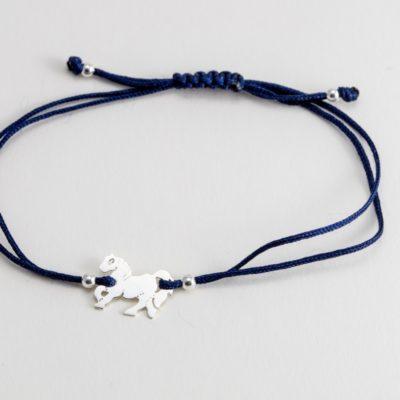 Pferd Sterlingsilber Armband viele Farben zur Auswahl