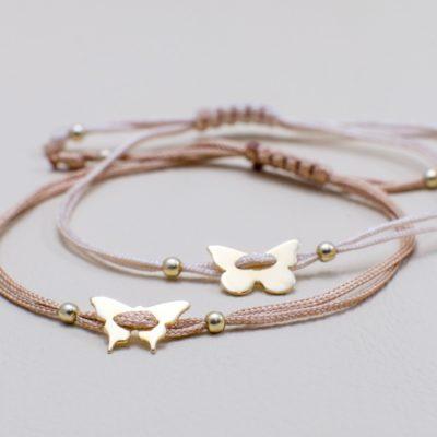 Schmetterlinge Sterlingsilber Armband viele Farben zur Auswahl
