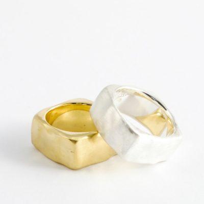 Massive Eheringe Ringe Sterlingsilber vergoldet oder 14Kt Gold oder 18Kt Gold