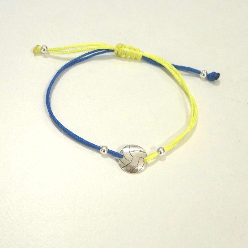 Beachvolleyball Sterlingsilber Armband viele Farben zur Auswahl