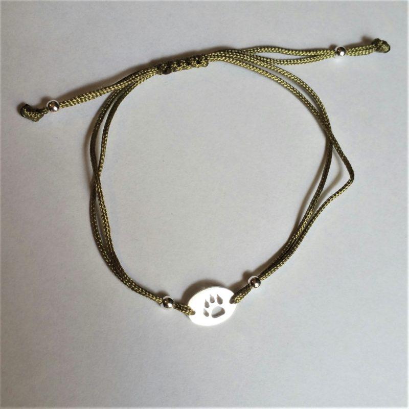 Hundepfote Sterlingsilber Armband viele Farben zur Auswahl