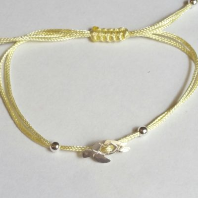 Wasserschildkröte Sterlingsilber Armband viele Farben zur Auswahl