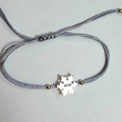 Schneeflocke Sterlingsilber Armband viele Farben zur Auswahl