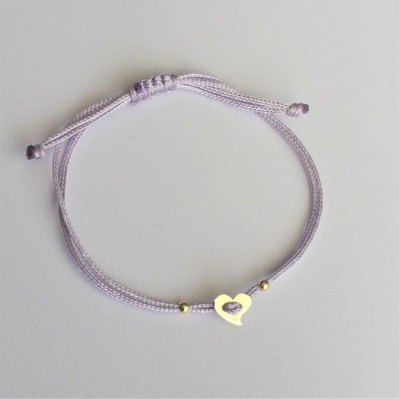 Herz Sterlingsilber Armband viele Farben zur Auswahl