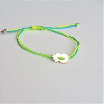 Ananas Sterlingsilber Armband viele Farben zur Auswahl