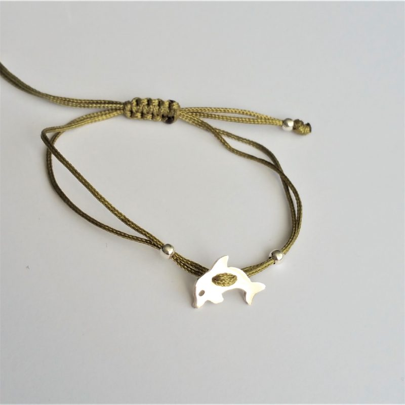 Delfin Sterlingsilber Armband viele Farben zur Auswahl