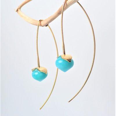 Amazonit Ohrringe Sterlingsilber vergoldet