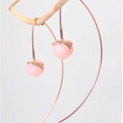 Pinkopal Ohrringe Sterlingsilber rose vergoldet