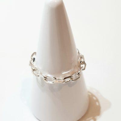 Kettenring Ring Sterlingsilber zart
