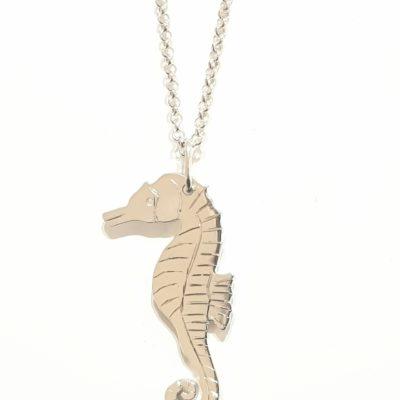 Seepferdchen Anhänger Halskette Sterlingsilber