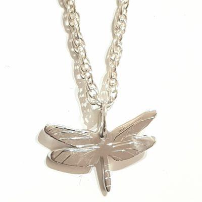 Libellen Anhänger Halskette Sterlingsilber