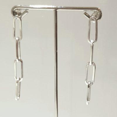 Kettenohrringe Sterlingsilber