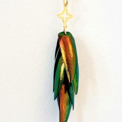 Juwelkäfer Halskette mit Ornament Sterlingsilber vergoldet