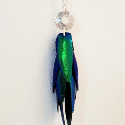 Juwelkäfer Halskette mit Ornament Sterlingsilber