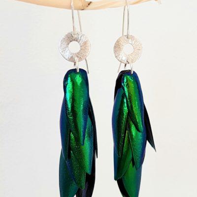 Juwelkäfer Ohrringe mit Ornament Sterlingsilber